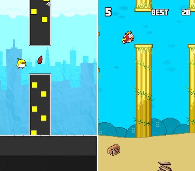 Dwa klony Flappy Bird