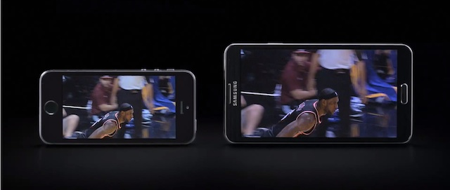 reklama Galaxy Note 3 vs iPhone 5S