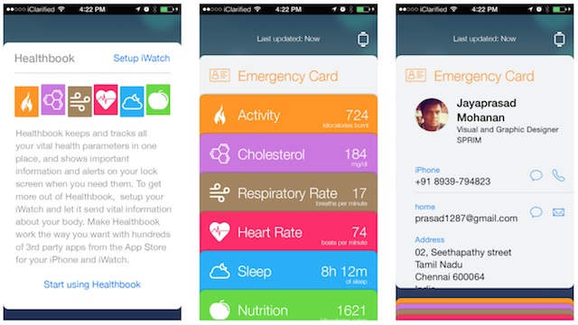 aplikacja Heathbook Apple