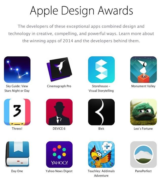 Apple Design Awards 2014
