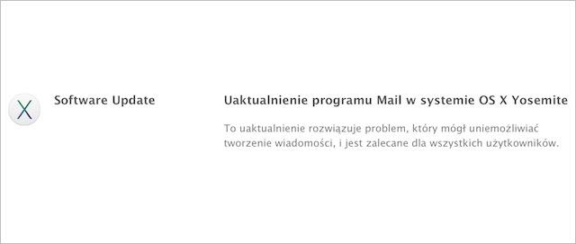 OS X Yosemite aktualizacja Mail