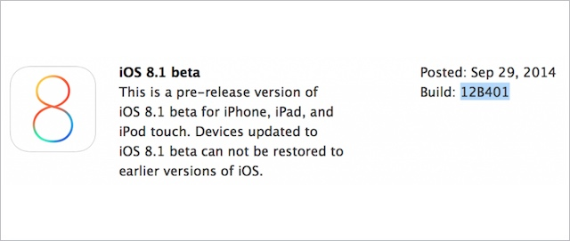 iOS 8.1