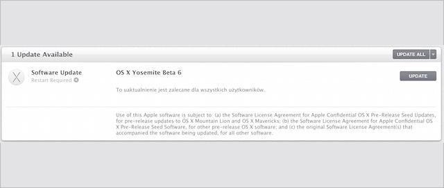 OS X Yosemite publiczna beta 6