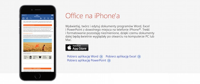 Office na iPhone'a