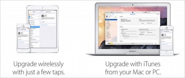 upgrade iOS8
