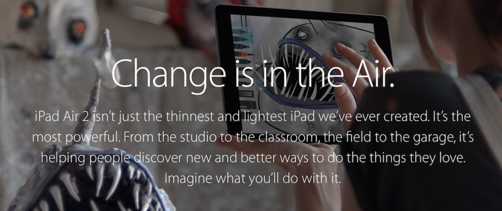 Change reklama iPad Air