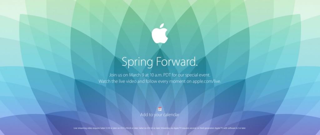 Spring Forwar impreza Apple live
