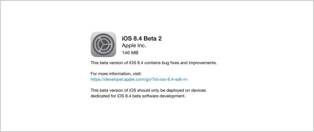 ios8.4 beta 2