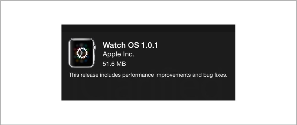 Watch OS update