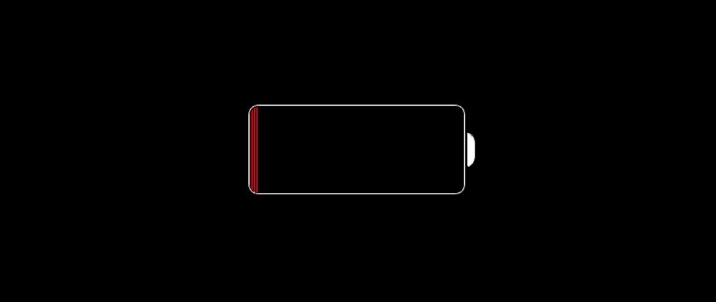 pusta bateria iOS 8