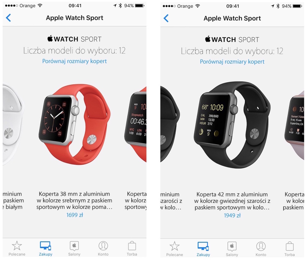 Apple Watch Sport w Polsce
