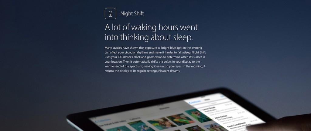 Night Shift iOS 9.3