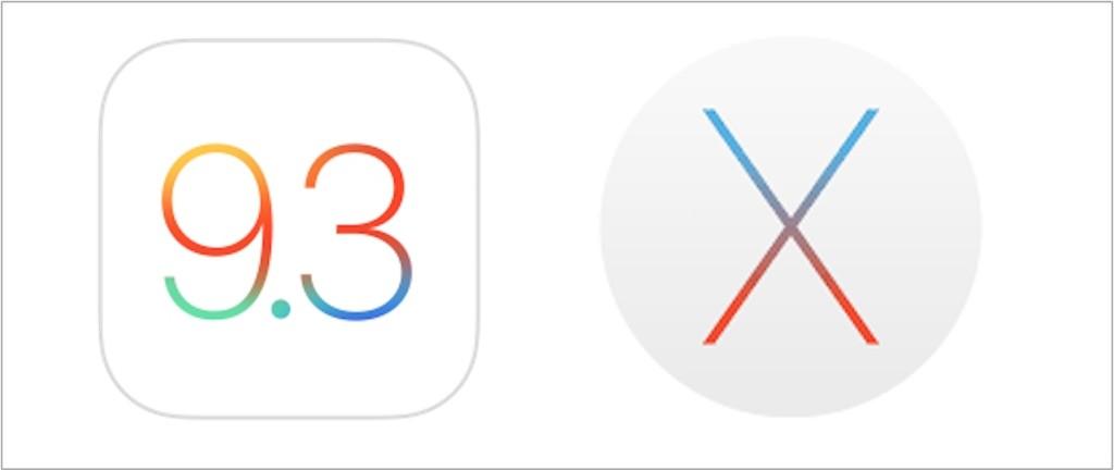 OS X 10.11.4 iOS 9.3