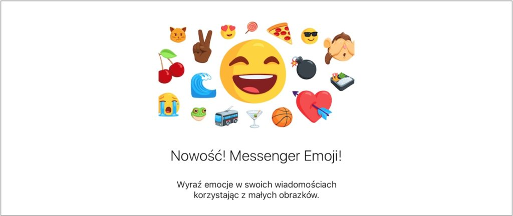Nowe emotikony Messenger