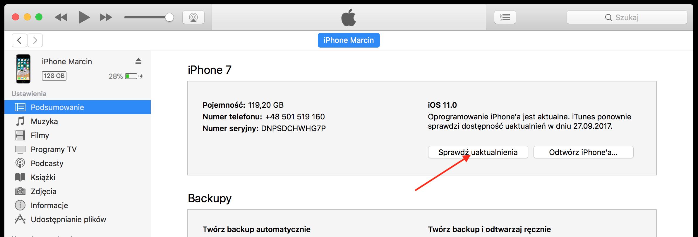 powrót do iOS 10
