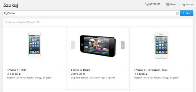nowy ekran wyszukiwania