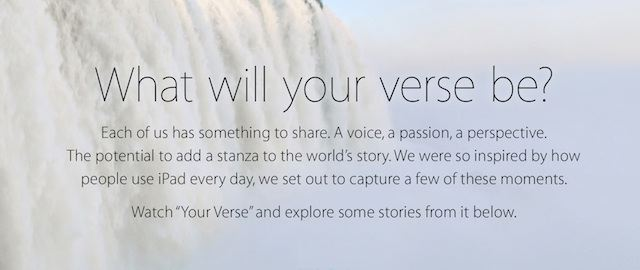Your Verse iPad Air reklama