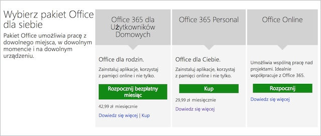 Office 365 ceny