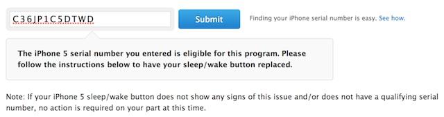 Program wymiany przycisku usypiania iPhone 5