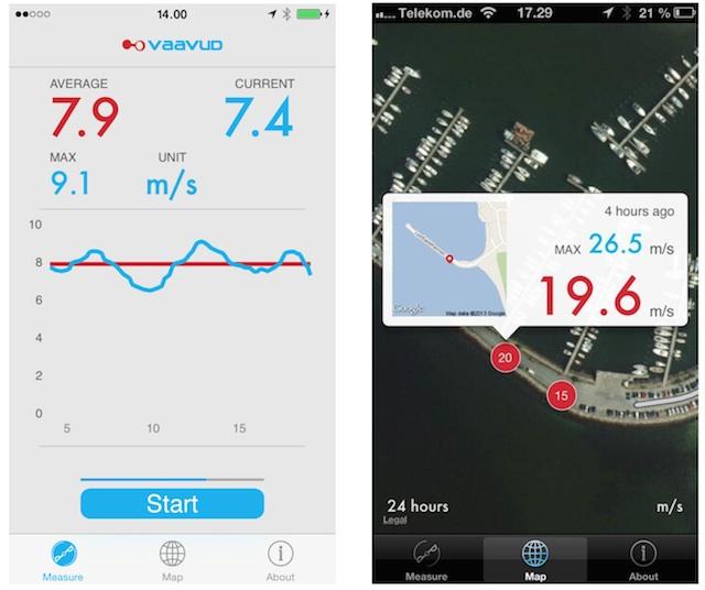 aplikacja Vaavud