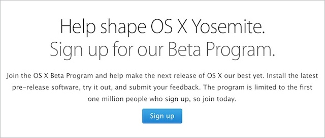 OS X Yosemite Beta Program