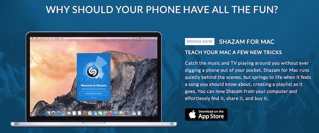 Shazam dla Mac