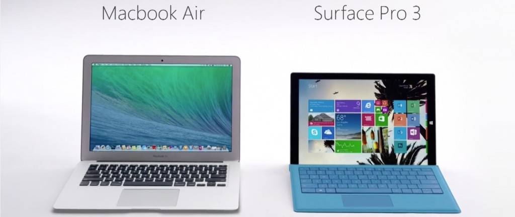 MacBook Air vs Syrface Pro 3