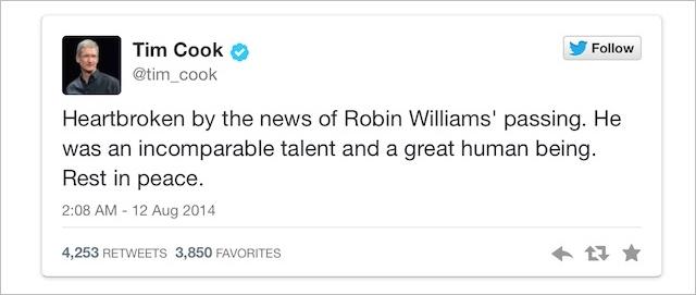 Robin Williams kondolencje
