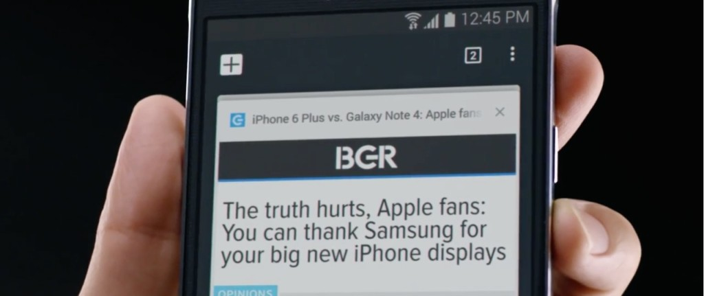 reklama Samsung kontra iPhone 6