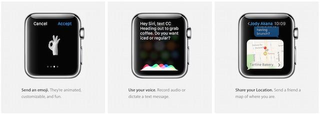 komunikacja Apple Watch