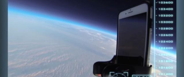 iPhone 6 w kosmosie