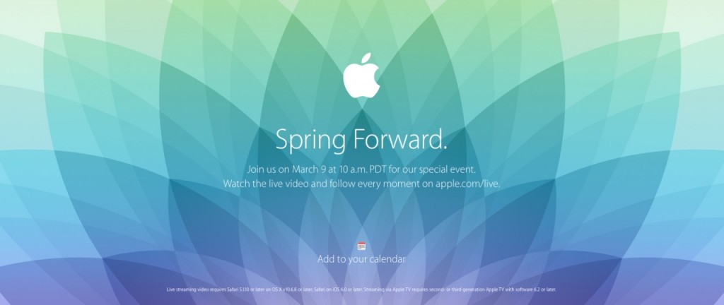 Spring Forwar impreza Apple live