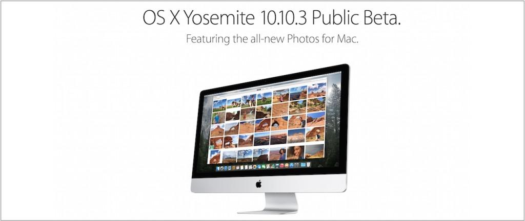 OS X 10.10.3 public beta