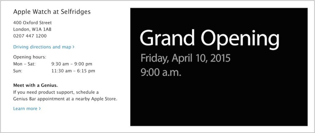 otwarcie Apple Watch Store