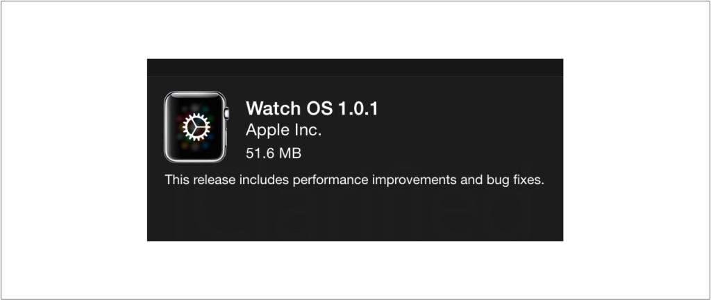 Watch OS update