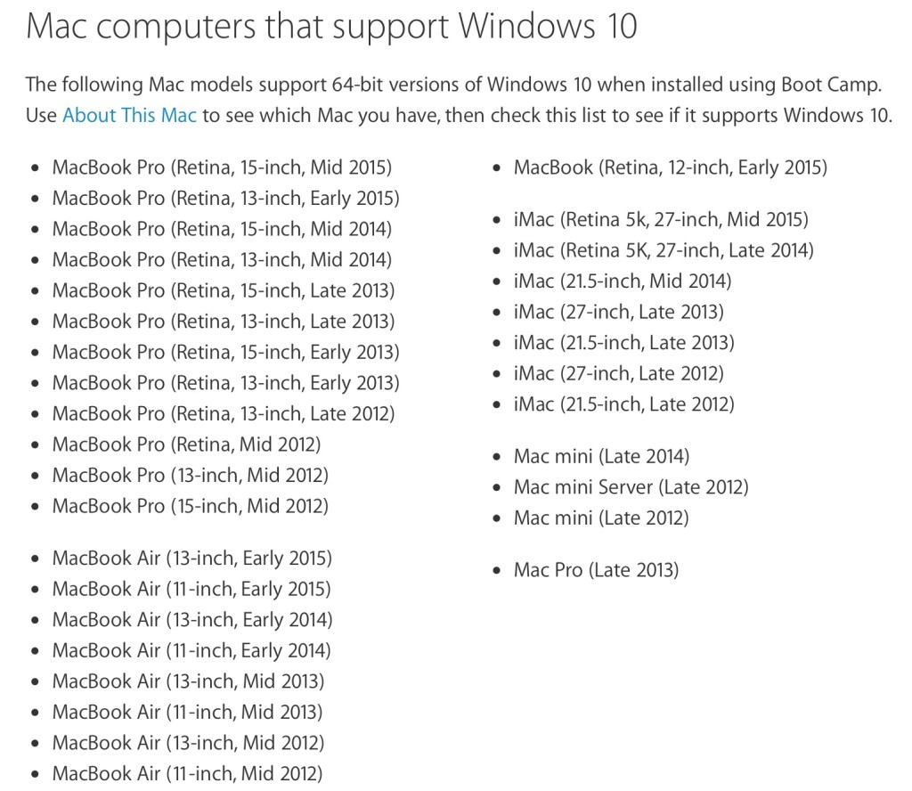 Boot Camp 6 Windows 10