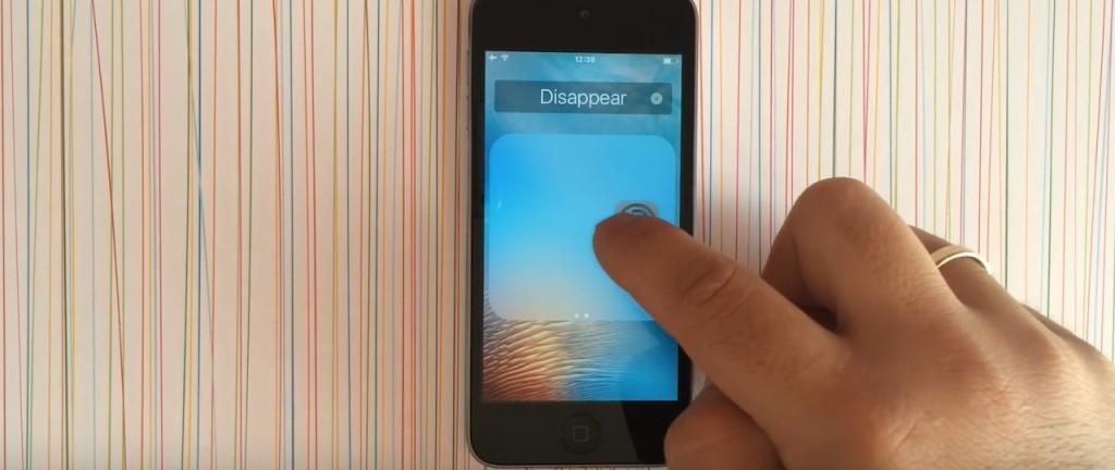 ukrywanie ikon systemowych iOS 9