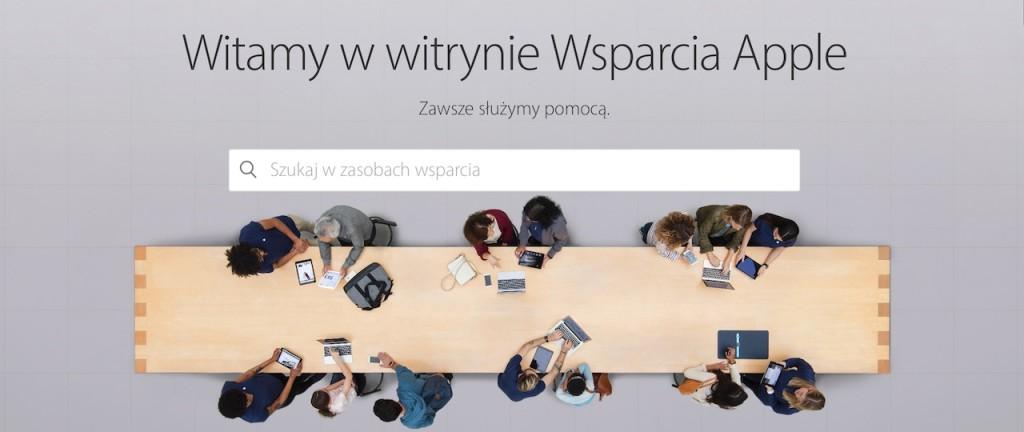 wsparcie techniczne Apple