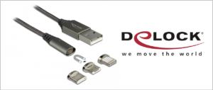 Delock: magnetyczny zestaw kabli USB